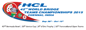 Chennai World Bridge Teams Championship 2015 Logo