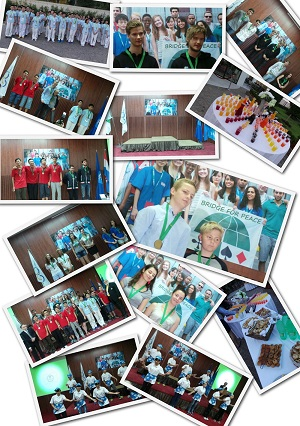 A collage of the prize giving