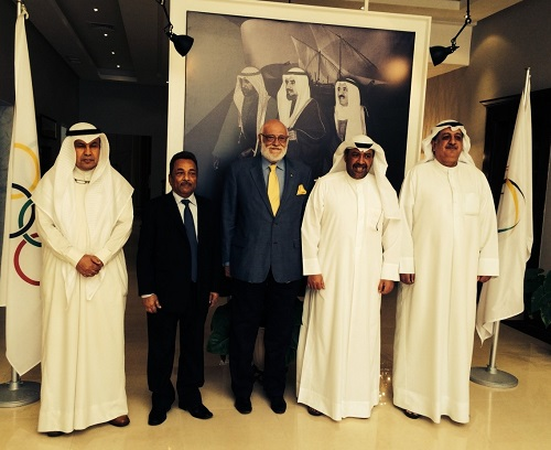 The WBF meets  ANOC & OCA President